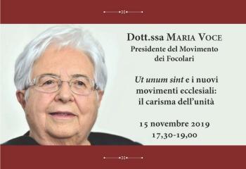 Conferenza Dott.ssa Maria Voce 15 novembre 2019-Ridotta
